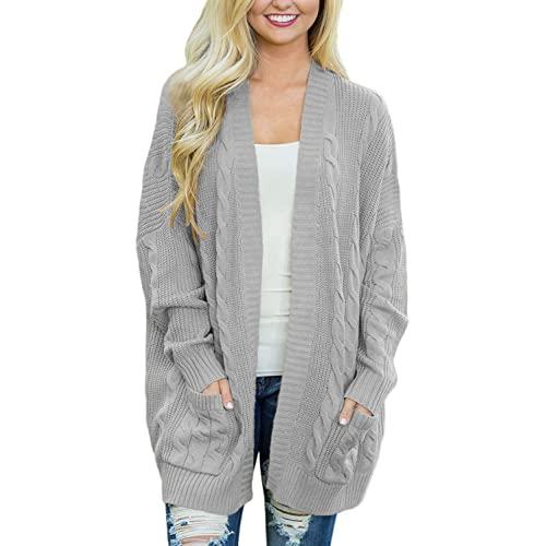 Grey Knit Cardigan: Amazon.c