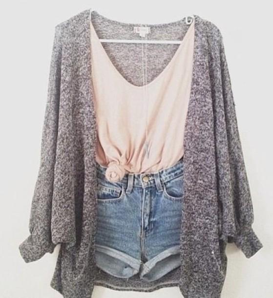 cardigan, grey cardigan, sweater, oversized cardigan, knitted .