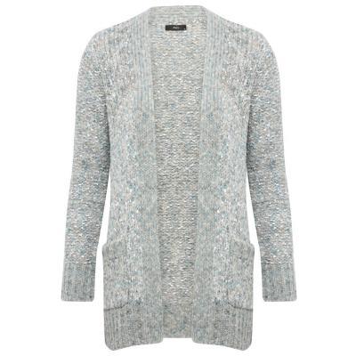 M&Co Ribbon Knit Chunky Girlfriend Cardigan Grey 28, $32 | M&Co .