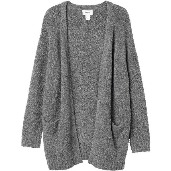Monki Bibi knitted cardigan ($22) ❤ liked on Polyvore featuring .