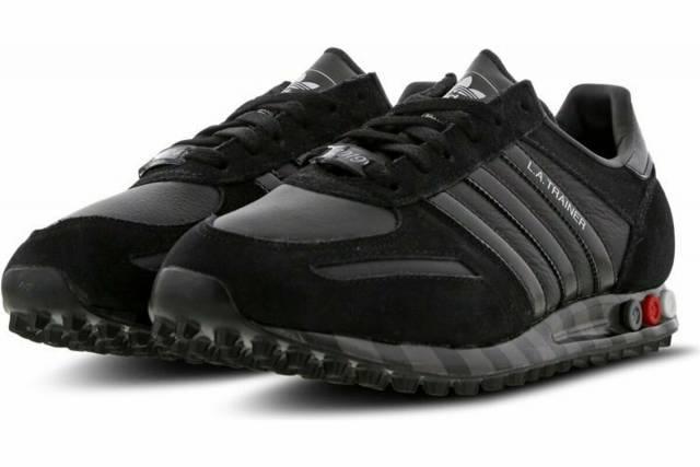 adidas Originals LA Trainer 45 Men Retro Shoes Black 100%AUTHENTIC .