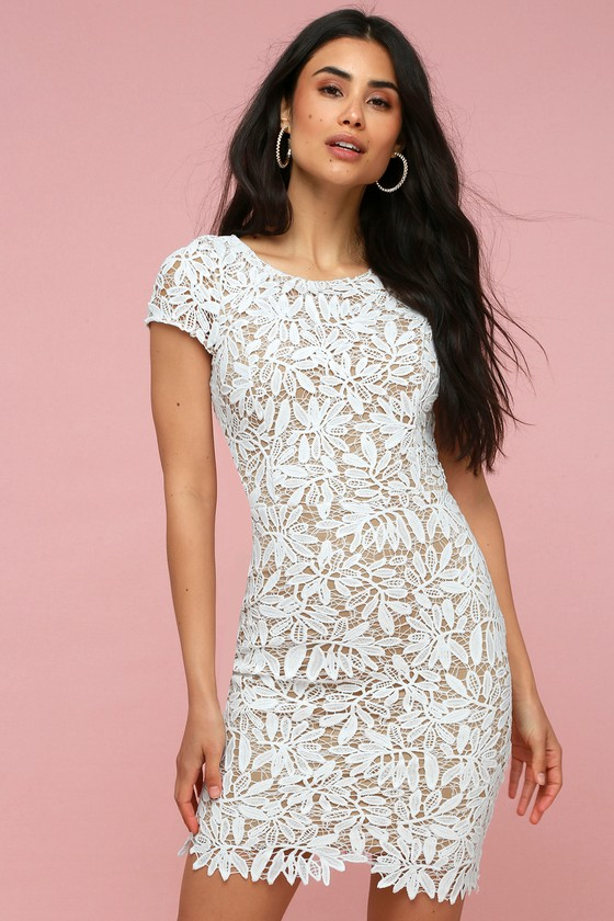 Lovely White Dress - Bodycon Dress - Lace Dre