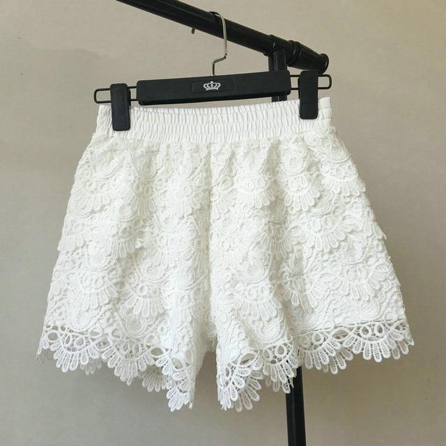 8 Colors Hollow Lace Shorts Women Hotpants Summer Black Shorts .