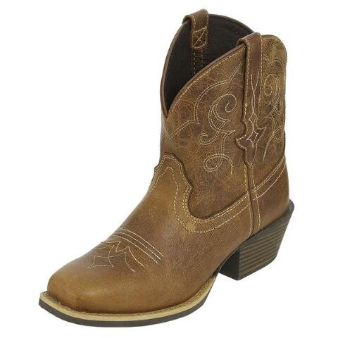 Justin Gypsy Chellie Tan Ladies Ankle Boot | Cowboy Boots | Big .