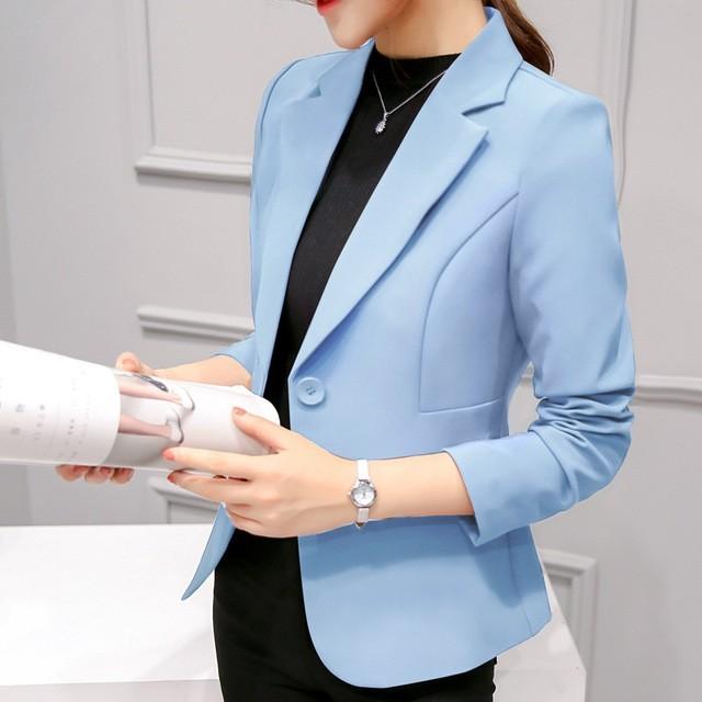 Ladies Blazer Long Sleeve Blaser Women Suit jacket Female Feminine .