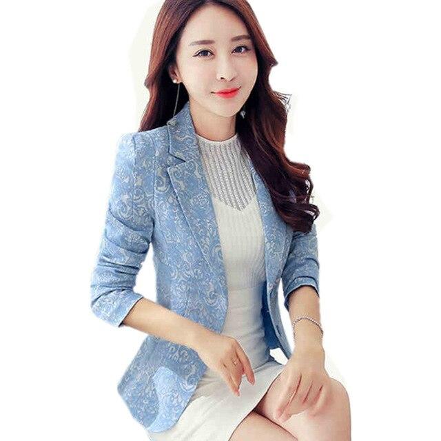 2017 New Blazer Plus Size 3XL Blazer Jacket Women Jacquard Small .
