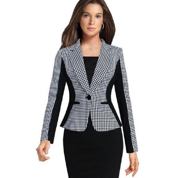 2018 new Autumn ladies Blazers jackets fashion Slim Small Suit .