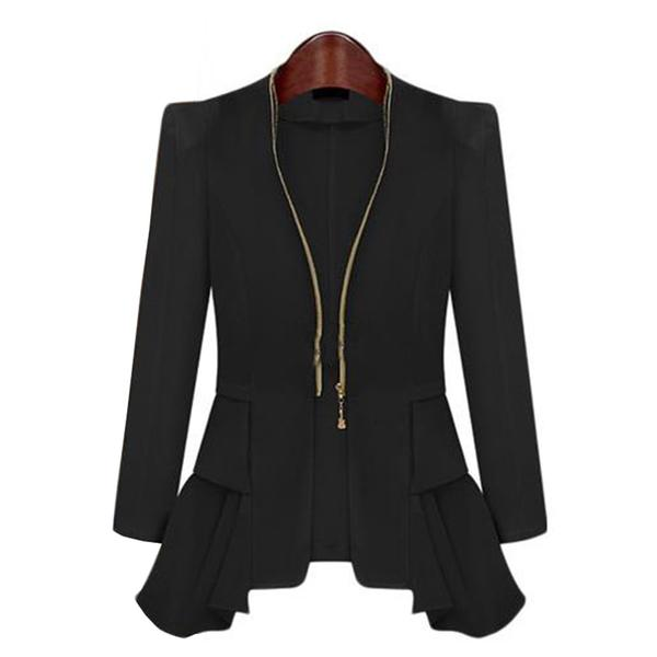 Ladies Blazers and Coats Office Wear Work Long Sleeve Black White .