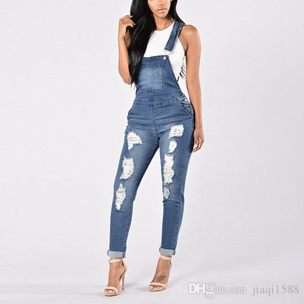 2019 2019 New Stylish Ladies' Jumpsuits With Holes In European .