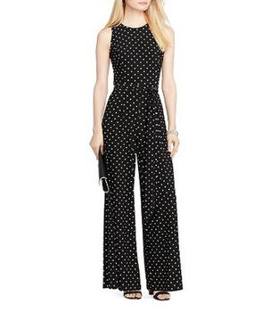 Oem Latest Fashion Black Jumpsuit Polka Dot Jersey Pattern .
