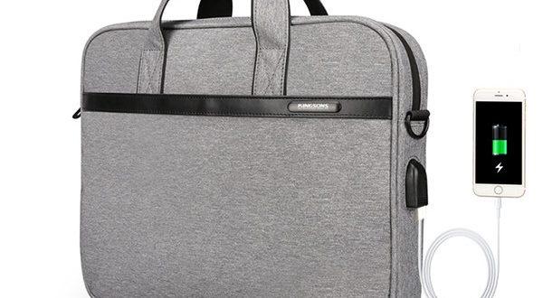 KINGSONS USB Travel Laptop Bag Waterproof Messenger Bag Shoulder .