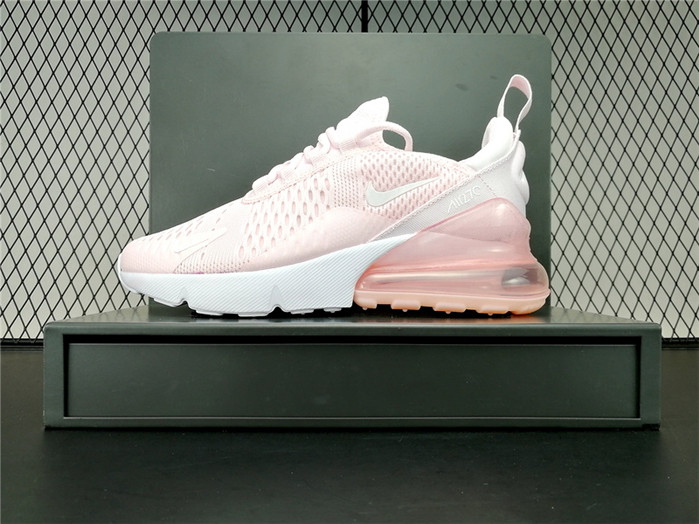 2018 Latest Nike Air Max 270 Real Womens Running Shoes Pink Whi