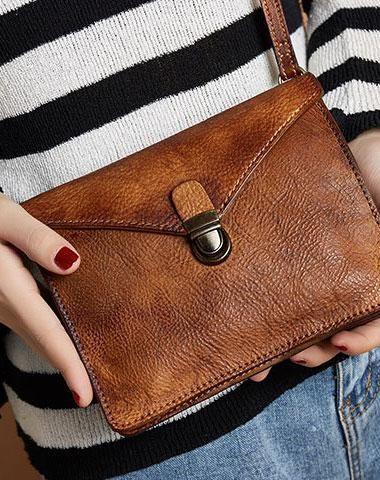 Genuine Handmade Vintage Leather Crossbody Bag Shoulder Bag Women .