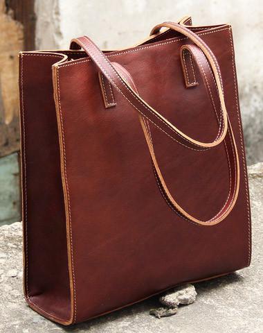 Handmade vintage womens leather tote bags shoulder bag for wom