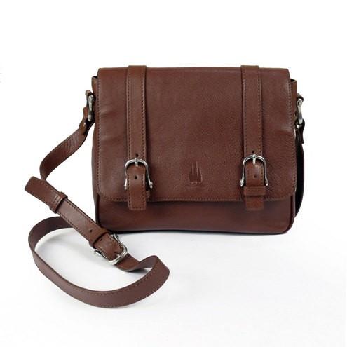 Leather Satchel Messenger Bag for Women Made in Florence - Toscanel