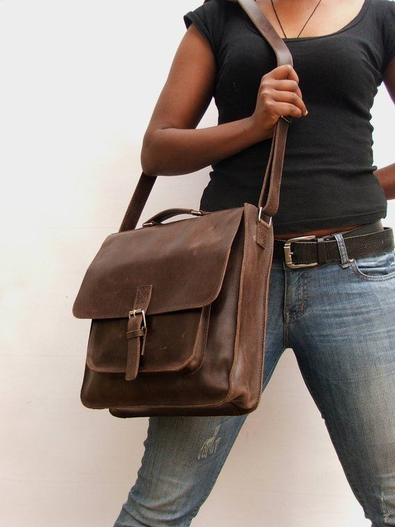 This listing is for one (1) Handmade Leather Messenger bag. This .