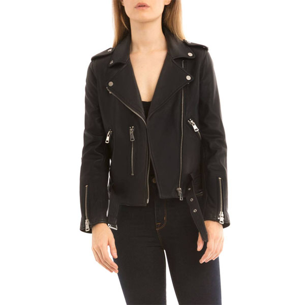 Bagatelle Leather Biker Jacket - Crystalin Mar