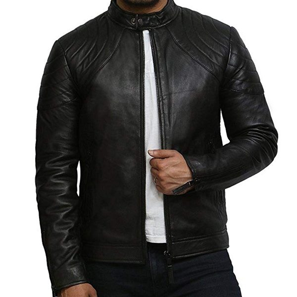 Buy Online Mens Vintage Genuine Leather Biker Jack