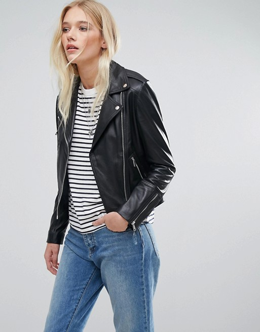 Lab Leather Biker Jacket | AS