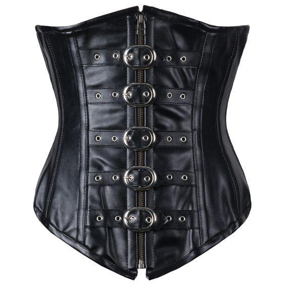 Antonio Real Leather Underbust Corset   Corsets Queen US-