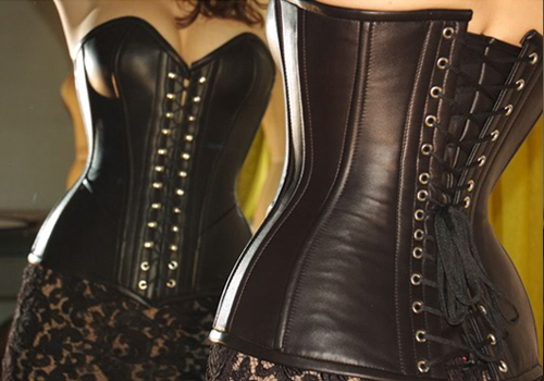 Luxury Leather Corsets, Bustiers, Black Lace, Pants, Mini Skirts .