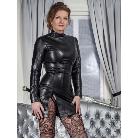 """Leather dress """"Yuna"""" DS-165 : Crazy-Outfits - webshop for leather ."""