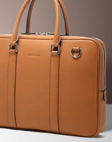 Handmade leather men vintage Briefcase messenger large vintage .