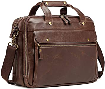Amazon.com: Leather Briefcase for Men Computer Bag Laptop Bag .