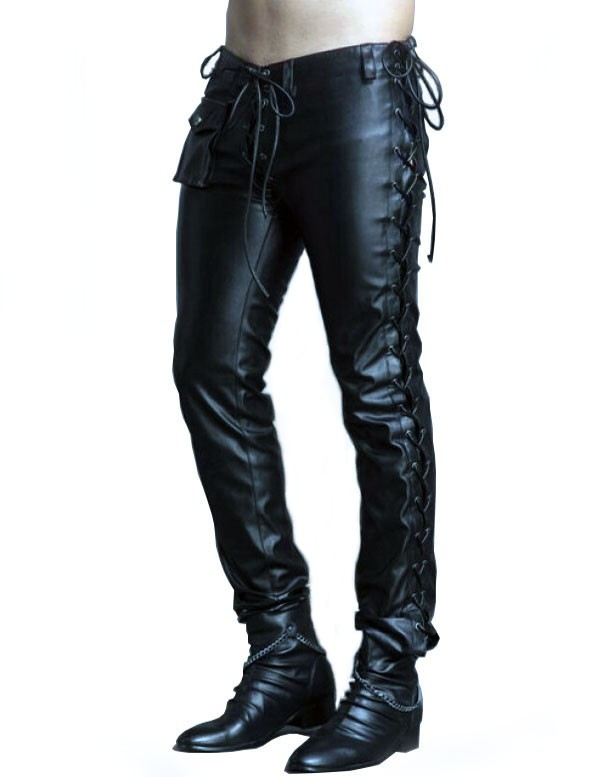 Mens Tight Leather Pants | Chain Reaction Leather Pan