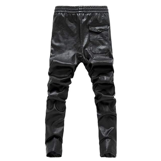 Mens black leather pants mens tights pants faux leather pu sexy .
