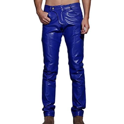 Blue Leather Pants: Amazon.c