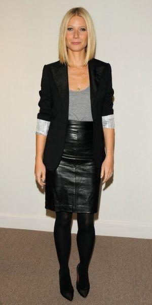 fashionize life: Leather pencil skirt | Falda de cuero, Faldas .