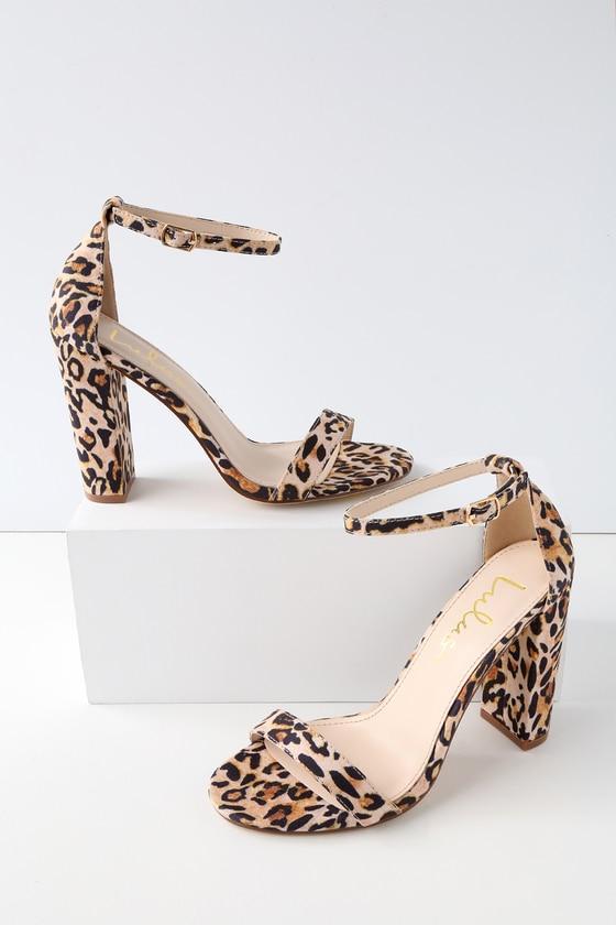 Taylor Leopard Suede Ankle Strap Heels - Lulus.c
