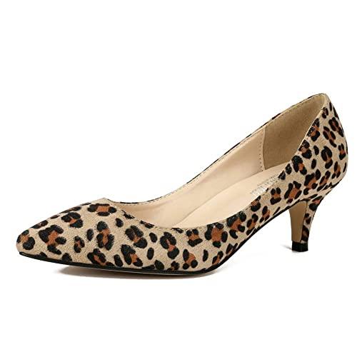 Leopard Kitten Heels: Amazon.c