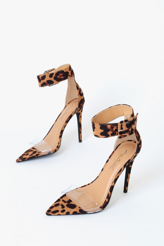 Sexy Leopard Heels - Pointed Toe Heels - Leopard Suede Hee