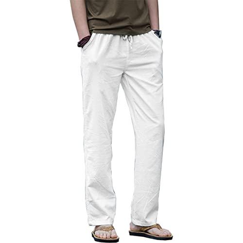White Linen Pants for Man: Amazon.c