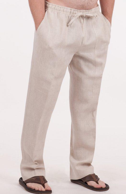 Men's Beach Wedding Linen Pants - Linen Casual Formal and Drawstri