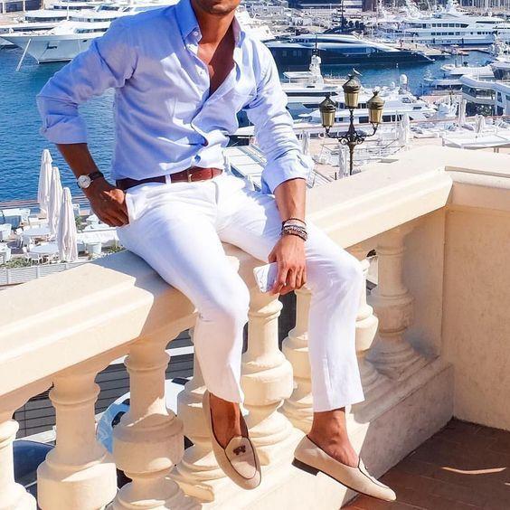 5 Looks - The Crazy White Pants! | White pants men, Mens fashion .