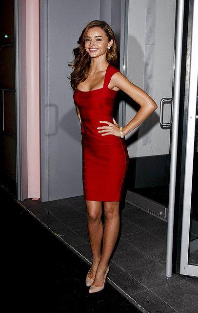 Miranda Kerr | Little red dress, Fashion, Red midi dre