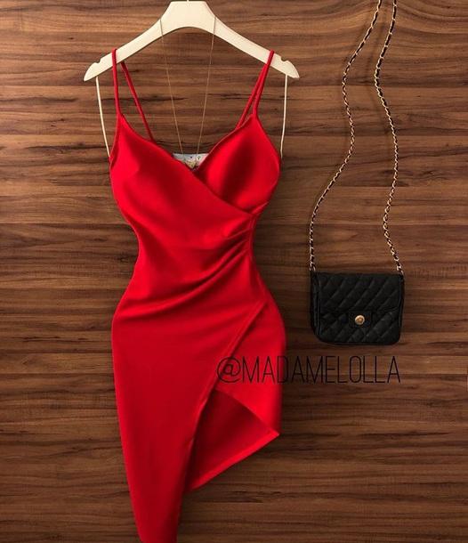 dress, red, little red dress, cute, date dress, red dress .