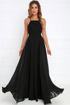 Mythical Kind of Love Black Maxi Dress | Black bridesmaid dresses .