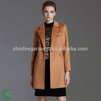 Women Long Design Winter Office Wool Coats - Buy Women Long .