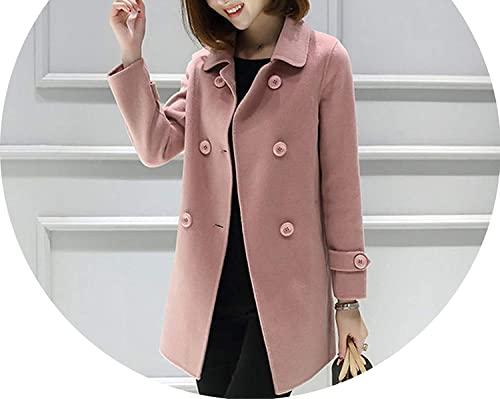 Amazon.com: spyman Winter Coat Women Korean Double Breasted Jacket .