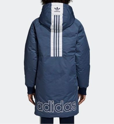 Shop adidas 2018-19AW Street Style Long Down Jackets by JJAdonis .