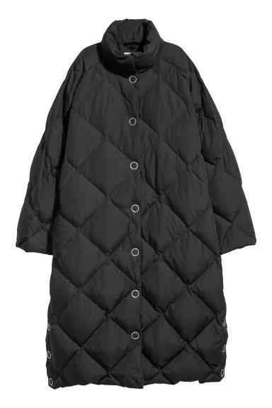Long down jacket - Black - Ladies   H