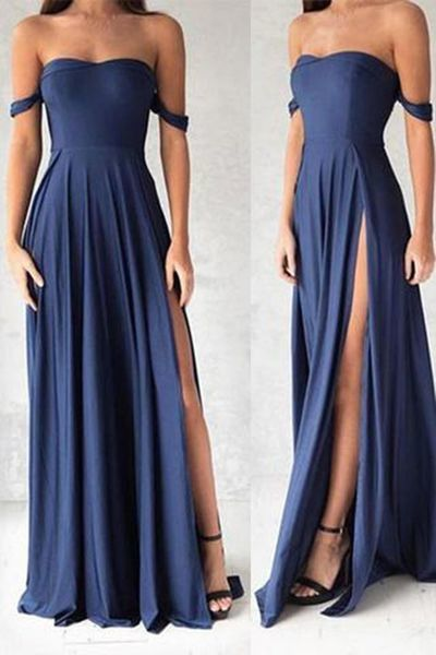 Gorgeous Navy Blue Prom Dresses,Elegant Evening | la