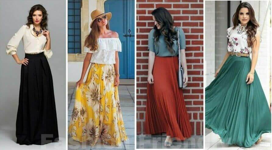 How To Wear Long Skirts Without Looking Frumpy: Five Outfit Ide