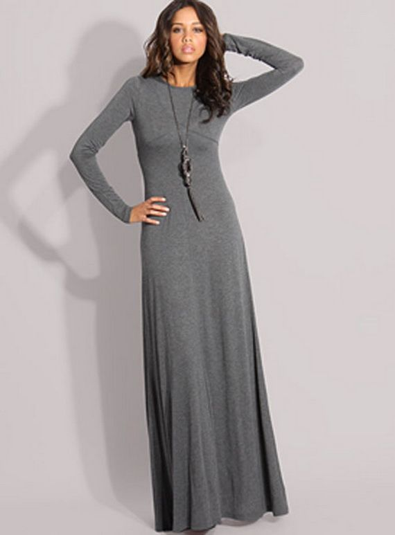 Long Sleeved Dresses | Maxi dress with sleeves, Simple long dress .