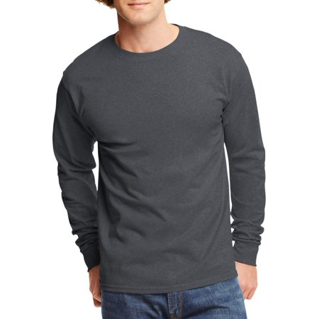 Hanes - Hanes Men's and Big Men's Tagless Long Sleeve Tee, Up To .