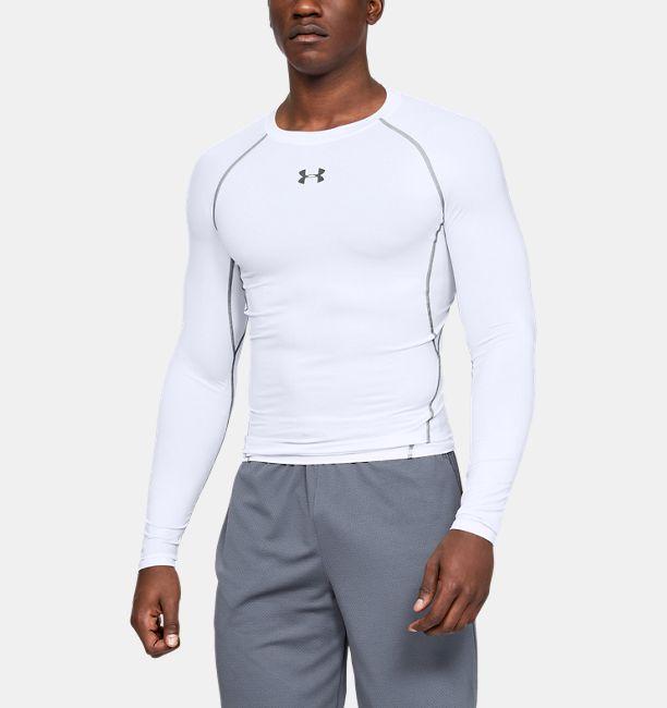 Men's HeatGear® Armour Long Sleeve Compression Shirt | Under Armour